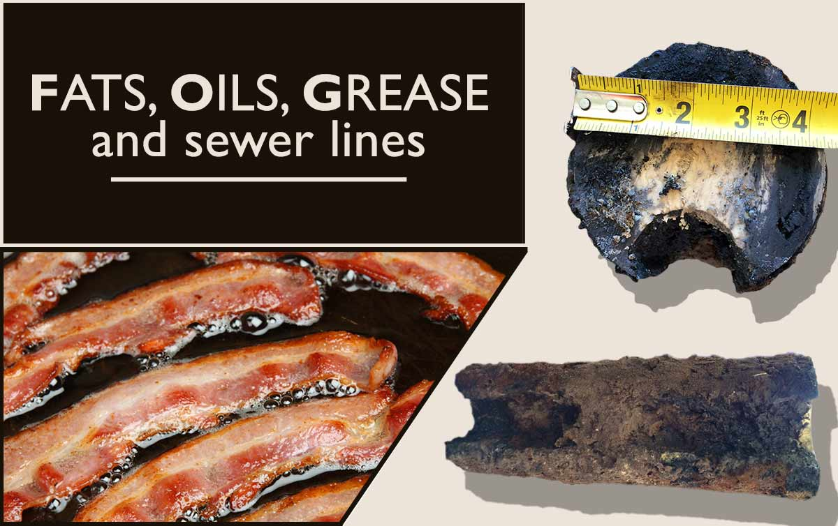 Fats, Oils and Grease Buildup on Sewer Lines